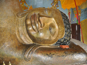 Reclining Buddha at Phnom Kulen, Cambodia