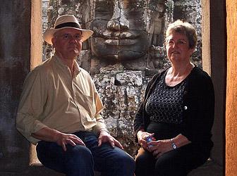 Senior couple in Bayon, Cambodia