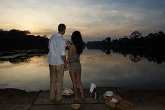 Sonnenuntergang Getränke, Angkor Wat Ohne Menschenmengen