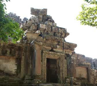 Entrance to Ta keo temple in Siem Reap, Cambodia