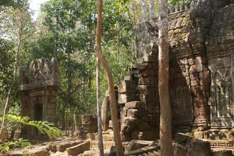 Ta Nei temple. Travel around 15km from Siem Reap, Cambodia