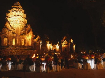 Luxury catering at Angkor Wat