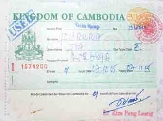 Visa extensions are usual procedure in Cambodia