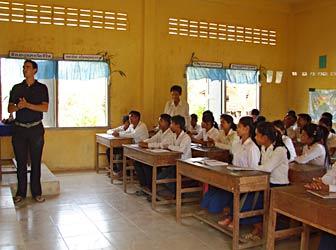 Cambodian schoolchildren
