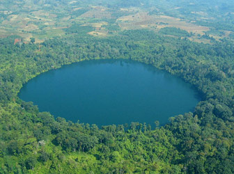Yaklom Crater Lake in Ratanakiri