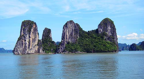 The beautiful Halong bay