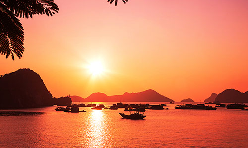 Halong Bay, Sunset