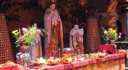 Chinese temple in Cho Lon area