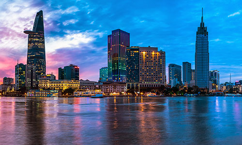 Saigon city night view