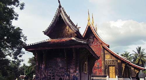 Many temples are wooden and ornately decorated