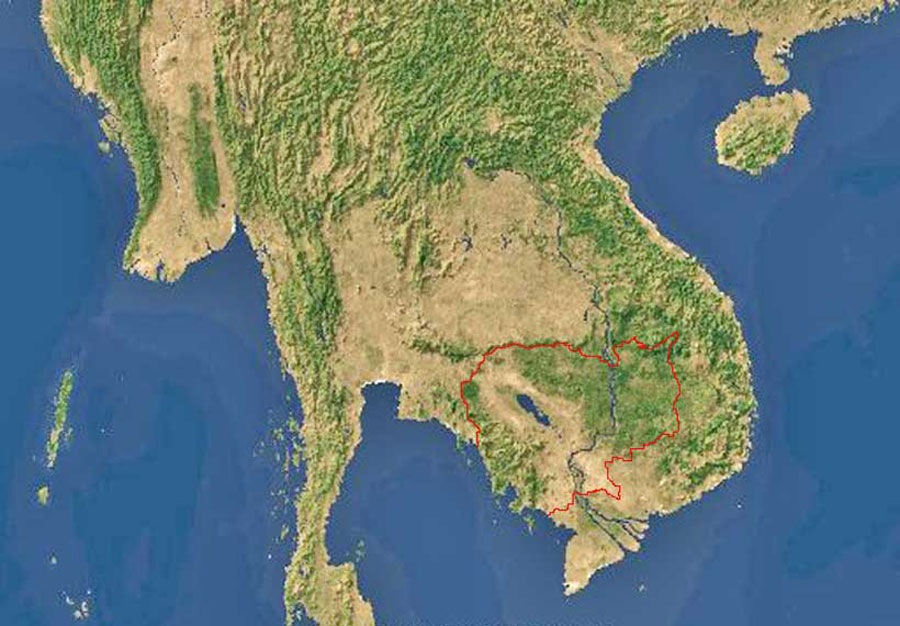 Southeast Asia Map Physical ABOUTAsia