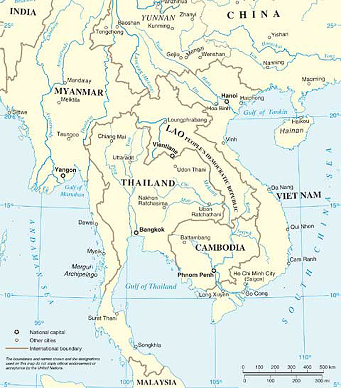 Southeast Asia Map Political