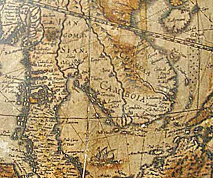 Cambodia 16th century map