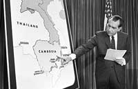 richard nixon explaining cambodian involvment in the war - White House archives