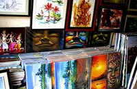 Paintings at Cambodian market