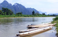 nam song river - near luang prabang, laos