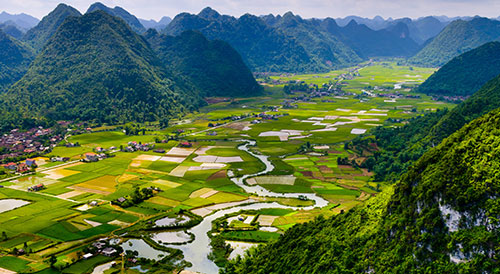 vietnam field mountain